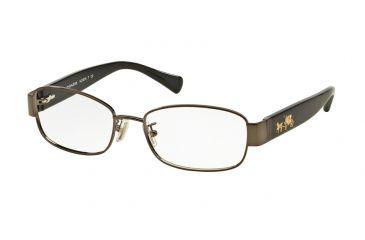 fc05bfb0d4 Coach HC5075 Progressive Prescription Eyeglasses 9017-53 - Dark Silver    Black Frame