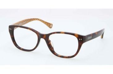 171667da7e67f Coach HC6029 HC6029F Eyeglass Frames 5001-51 - Dark Tortoise Frame