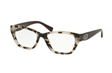 65543687da Coach HC6070 Eyeglass Frames 5325-53 - Snow Leopard Tortoise Dk Brown Frame