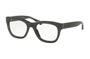 609612309e1 Coach HC6115 Progressive Prescription Eyeglasses 5505-51 - Black Chunky  Glitter Frame