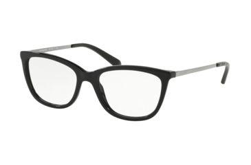 4063025deba2 Coach HC6124F Eyeglass Frames 5002-53 - Solid Black Frame
