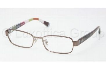Coach IRIS HC5003 Single Vision Prescription Eyeglasses 9027-5016 - Dark Brown