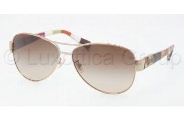 5aebff80f4b Coach L012 KRISTINA HC7003 Sunglasses 901413-5913 - Gold Olive Brown  Gradient