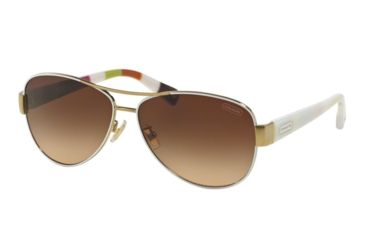 62127f2a9077d ... top quality coach l012 kristina hc7003 sunglasses 905113 59 gold white  frame brown gradient lenses 97e36