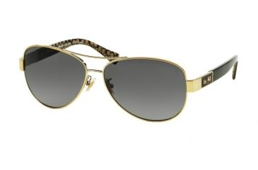 b3094e97d5 Coach L103 CHRISTINA HC7047 Sunglasses 9201T3-59 - Gold Black Military Sig  C Frame