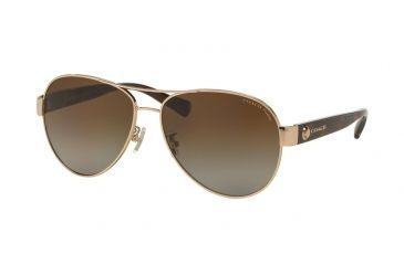 90886a3ffba6b Coach L148 HC7063 Sunglasses 9262T5-58 - Light Gold Dark Tortoise Frame