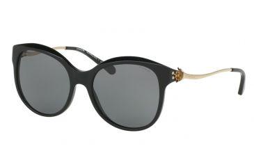 0a24441bf7b7 ... amazon coach l1610 hc8189 sunglasses 530887 55 black light gold frame  grey solid lenses df4d5 49d7e