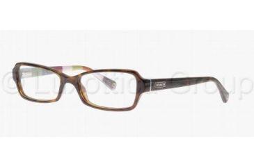 Coach QUINN HC6010 Single Vision Prescription Eyeglasses 5001-4816 - Dark Tortoise
