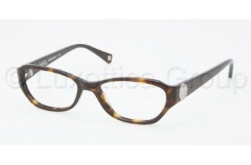 Coach VIOLET HC6009 Single Vision Prescription Eyeglasses 5001-5016 - Dark Tortoise