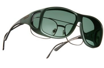 Cocoons Aviator Over-Rx Sunglasses, XL Ivy Frame, Gray Lenses C201G