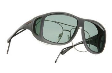 Cocoons Aviator OveRx Sunglasses, XL Slate Frame, Gray Lenses C208G