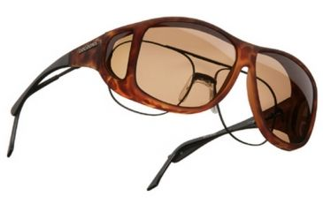 Cocoons Aviator Over-Glasses Sunglasses, XL Tort Frame, Amber Lenses C207A