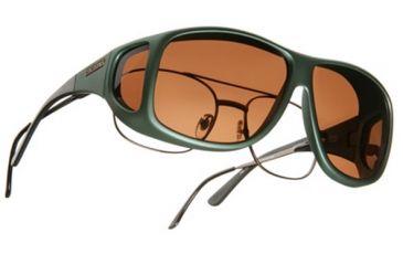 Cocoons Aviator Over-Glasses Sunglasses, XL Ivy Frame, Copper Lenses C201C