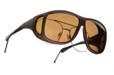 Cocoons Aviator OveRx Sunglasses, XL Burgundy Frame, Amber Lenses C209A