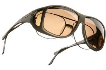 Cocoons Aviator Over-Prescription Sunglasses, XL Sand Frame, Amber Lenses C205A