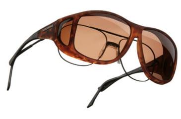 Cocoons Aviator Over-Glasses Sunglasses, XL Tort Frame, Copper Lenses C207C
