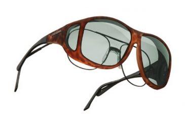 Cocoons Aviator Over-Glasses Sunglasses, XL Tort Frame, Gray Lenses C207G