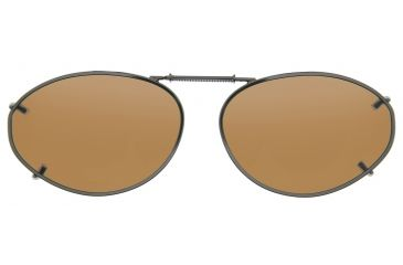 Cocoons Oval 6 Clip-On Sunglasses, Size 54 Gunmetal Frame, Amber Lenses L6138A