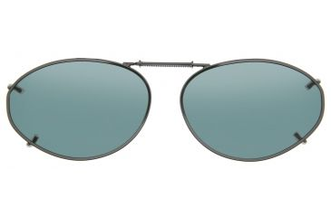 Cocoons Oval 6 Clip-On Sunglasses, Size 54 Gunmetal Frame, Gray Lenses L6138G