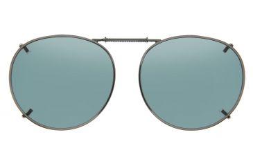 Cocoons Round 2 Clip-On Sunglasses, Size 50 Gunmetal Frame, Gray Lenses L508G