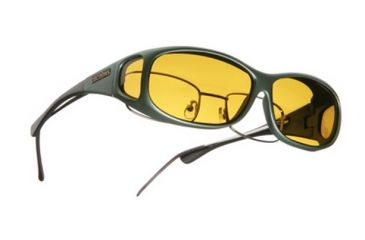 Cocoons Mini Slim Over-the-Glasses Sunglasses, MS Ivy Frame, Yellow Lenses C411Y