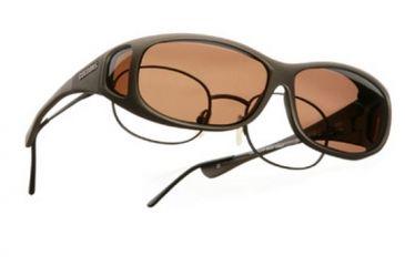 Cocoons Mini Slim Over-Glasses Sunglasses, MS Sand Frame, Copper Lenses C415C