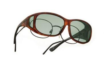 Cocoons Mini Slim Over-Rx  Sunglasses, MS Tort Frame, Gray Lenses C417G