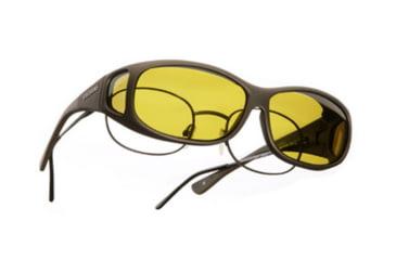 Cocoons Mini Slim Over-Glasses Sunglasses, MS Sand Frame, Yellow Lenses C415Y
