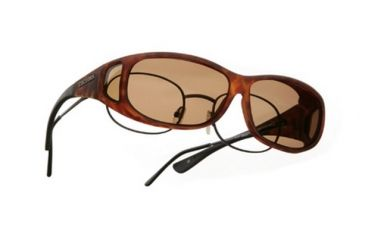 Cocoons Mini Slim Over-Glasses Sunglasses, MS Tort Frame, Amber Lenses C417A