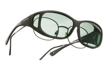 Cocoons Mini Slim Over-Glasses Sunglasses, MS Black Frame, Gray Lenses C412G