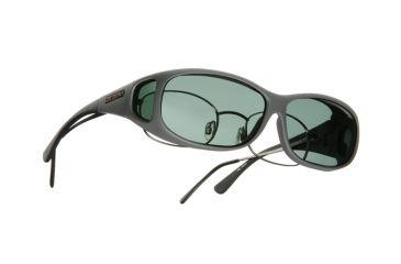 Cocoons Mini Slim Over-Rx  Sunglasses, MS Slate Frame, Gray Lenses C418G