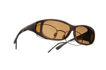 Cocoons Mini Slim Over-Glasses Sunglasses, MS Burgundy Frame, Amber Lenses C419A