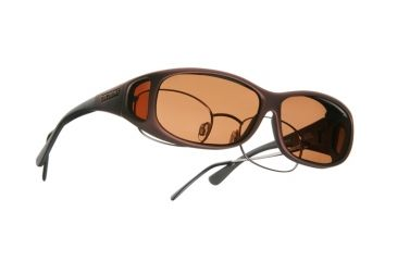 Cocoons Mini Slim OveRx Sunglasses, MS Burgundy Frame, Copper Lenses C419C