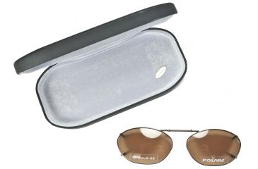 Cocoons Oval 5 Clip-On Sunglasses, Size 46 Bronze Frame, Amber Lenses L6129A