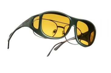 Cocoons Pilot Over-Glasses Sunglasses, L Ivy Frame, Yellow Lenses C301Y