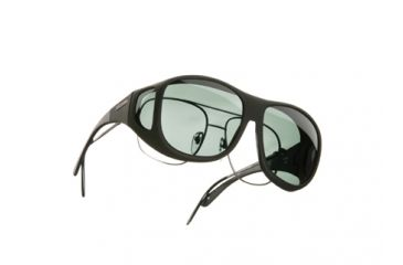 Cocoons Pilot Over-Glasses Sunglasses, L Black Frame, Gray Lenses C302G