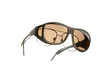 Cocoons Pilot Over-Glasses Sunglasses, L Sand Frame, Amber Lenses C305A