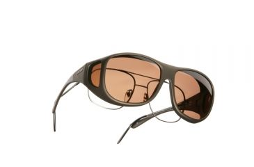 Cocoons Pilot Over-Glasses Sunglasses, L Sand Frame, Copper Lenses C305C