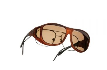Cocoons Pilot Over-Glasses Sunglasses, L Tort Frame, Amber Lenses C307A
