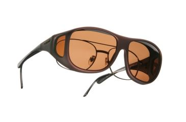 Cocoons Pilot Over-Rx Sunglasses, L Burgundy Frame, Copper Lenses C309C