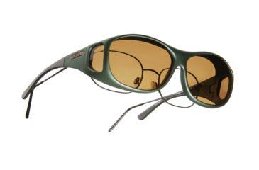 Cocoons Slim Line Over-Glasses Sunglasses, M Ivy Frame, Amber Lenses C401A