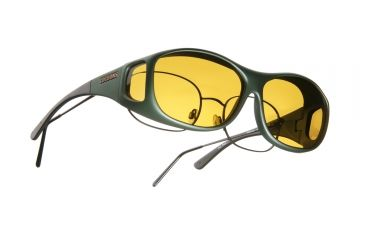Cocoons Slim Line Over-Glasses Sunglasses, M Ivy Frame, Yellow Lenses C401Y