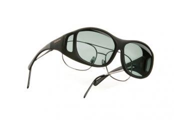 Cocoons SlimLine Over-Glasses Sunglasses, M Black Frame, Gray Lenses C402G