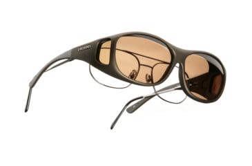 Cocoons SlimLine OveRx Sunglasses, M Sand Frame, Amber Lenses C405A