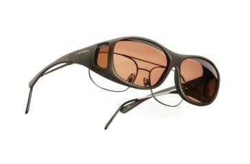 Cocoons SlimLine OveRx Sunglasses, M Sand Frame, Copper Lenses C405C