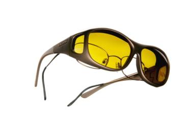 Cocoons Slim Line OveRx Sunglasses, M Sand Frame, Yellow Lenses C405Y