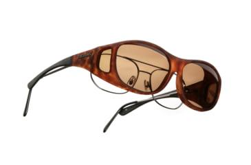 Cocoons Slim Line OveRx Sunglasses, M Tort Frame, Amber Lenses C407A
