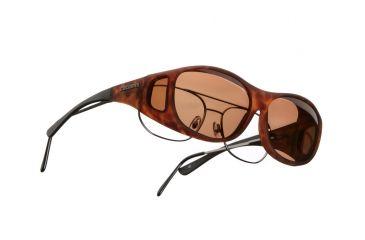 Cocoons Slim Line OveRx Sunglasses, M Tort Frame, Copper Lenses C407C