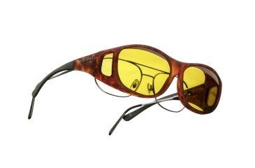 Cocoons Slim Line OveRx Sunglasses, M Tort Frame, Yellow Lenses C407Y