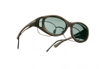 Cocoons Streamline Over-Glasses Sunglasses, SM Sand Frame, Gray Lenses C605G
